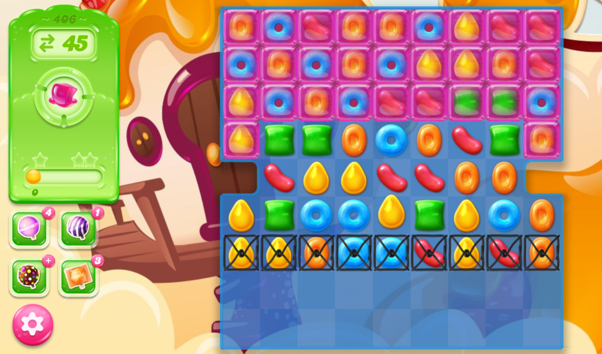 Candy Crush Jelly Saga 406