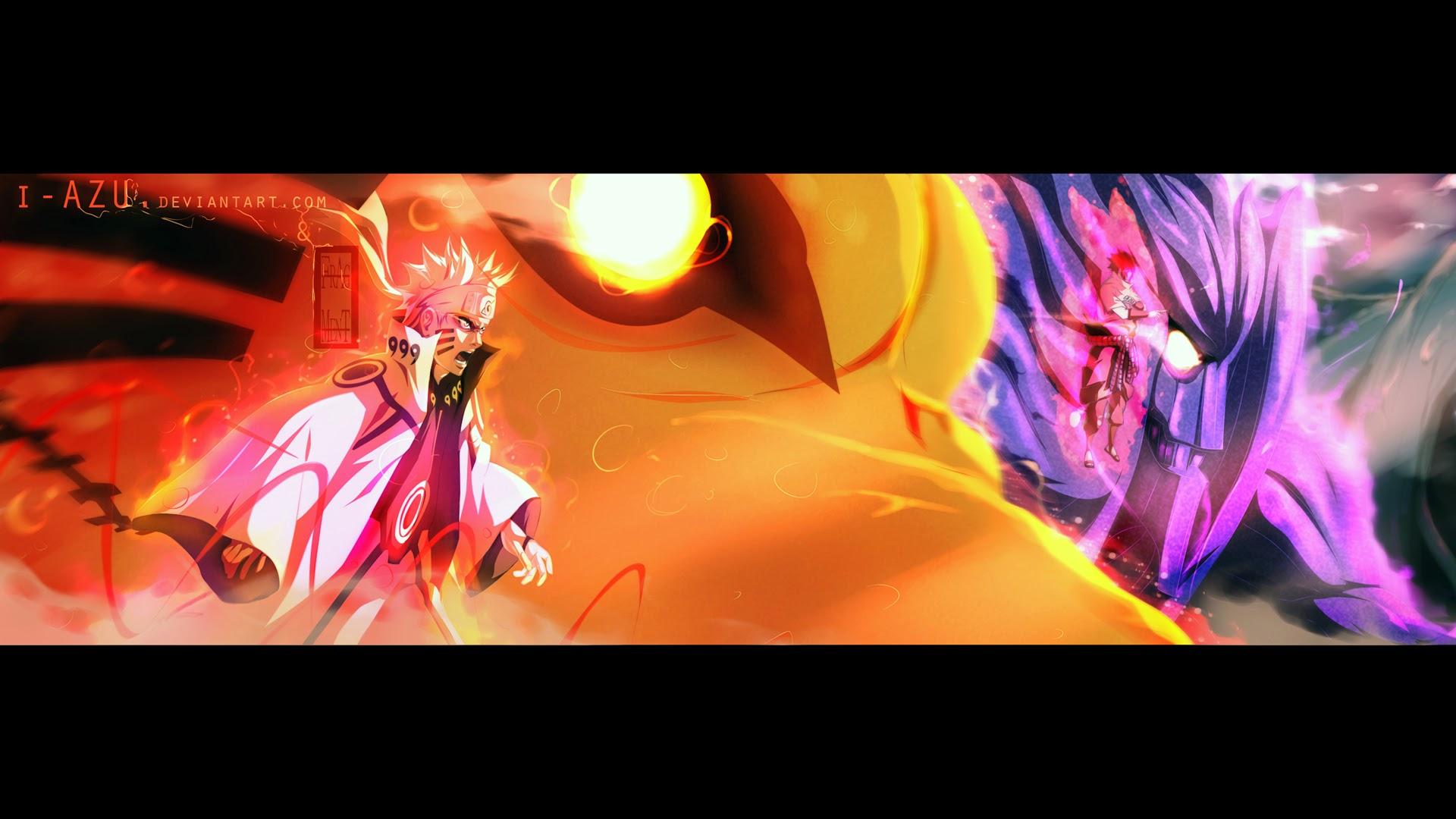 Naruto Kyuubi Mode Sasuke Susanoo 3j Wallpaper HD