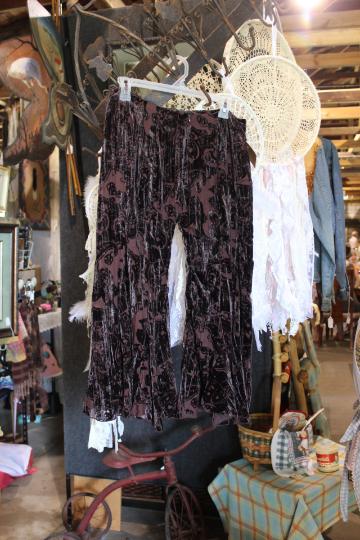 velvet gaucho pants