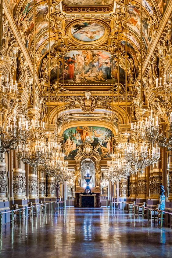Performance Persistence - The gorgeous grand foyer of the Paris Opera House