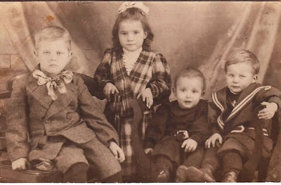 Climbing My Family Tree: Erwin, age 7; Hazel, age 5; Lowell, age 3, and Carl, age 1 (The Henn Family)