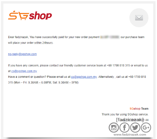 SGShop email verification