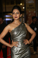 Rakul Preet Singh in Shining Glittering Golden Half Shoulder Gown at 64th Jio Filmfare Awards South ~  Exclusive 026.JPG