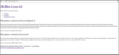 Crear un blog personal con Laravel 5.6