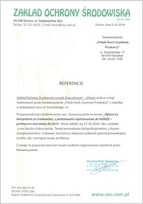 Referencje - Opłaty za korzystanie ze środowiska