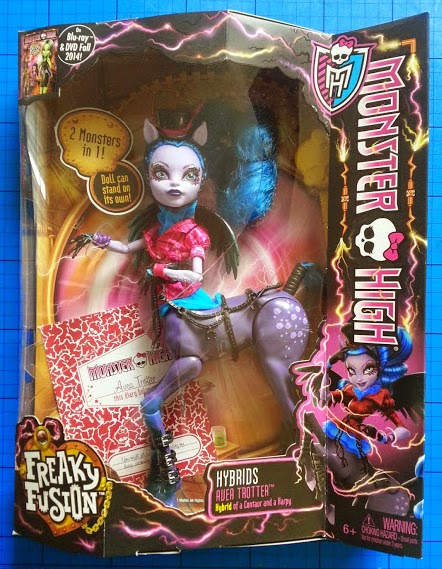 Monster High Freaky Fusion Hybrid Doll Avea Trotter in box