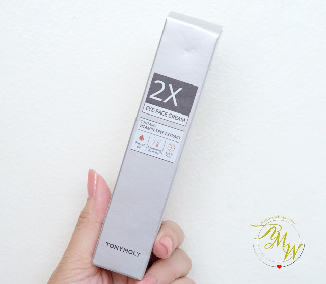 a photo of Tony Moly 2X Eye-Face Cream review.