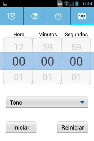Android, Aplicación Reloj