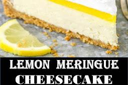 #Amazing #Recipes #Around #The #World #LEMON #MERINGUE #CHEESECAKE