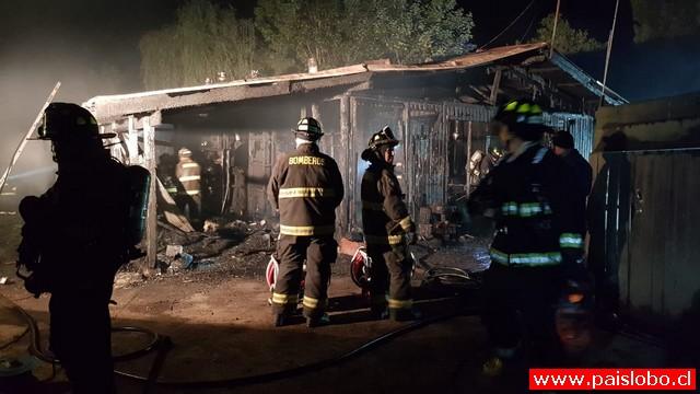 Osorno: Incendio deja una persona fallecida