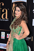 Manjusha in Beautiful Sleeveless Green Anarkali dress at IIFA Utsavam Awards 009.JPG