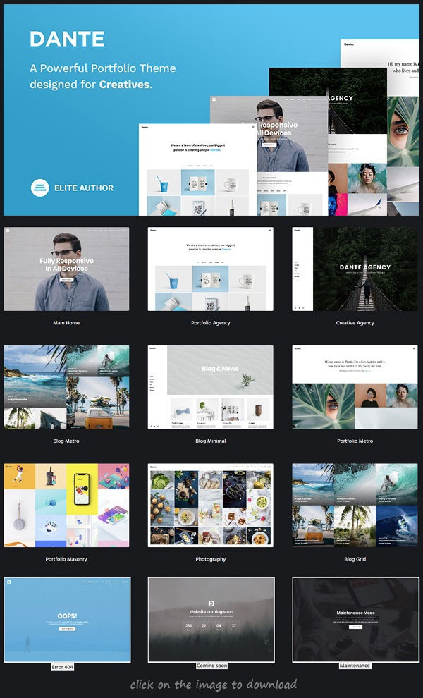 Download Premium WordPress Portfolio Theme