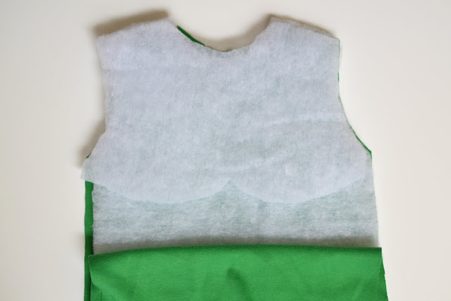 How to Sew Muscles in a costume - chest detail