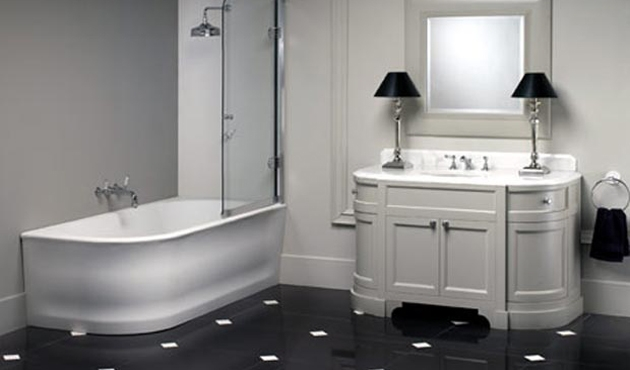 Casa bricolage decorao e artesanato Decoraes do banheiro em preto e branco