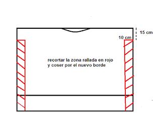 DIY top fácil con un rectángulo de tela. Patrón