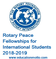 Rotary Peace Fellowships 2018, Scholarship, International, UK, Australia, USA, Master Degree, Eligibility Criteria, Description, Method of Applying, Application Deadline,