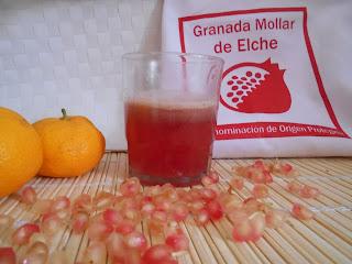551º Receta: Zumo De Granada Mollar De Elche D.o.p Y Mandarinas