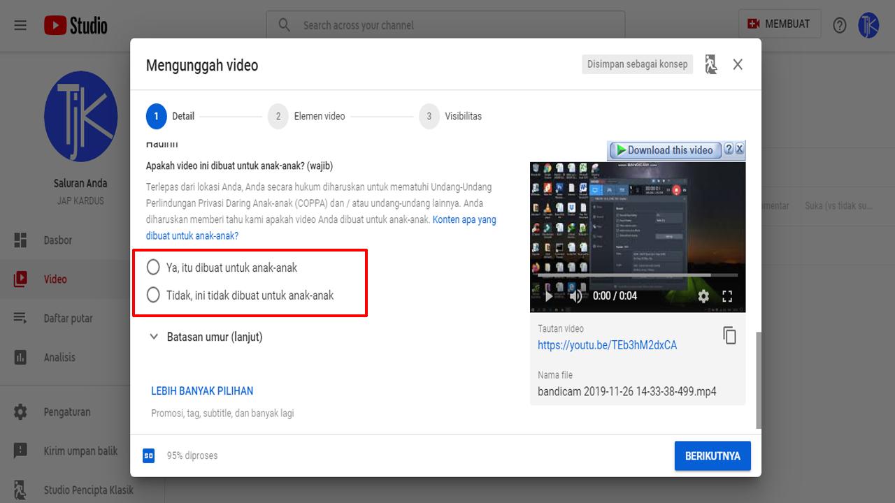 Pengaturan Batasan Usia pada Video YouTube yang Benar