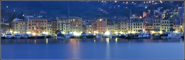 Santa Margherita Ligure Waterfront Hotel at Night
