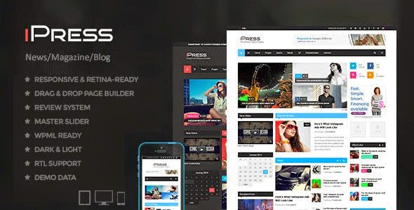 Free Responsive news wp theme
