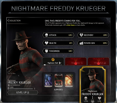 MKX mobile - Freddy Krueger