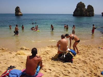 Praia do Camilo beach in Algarve