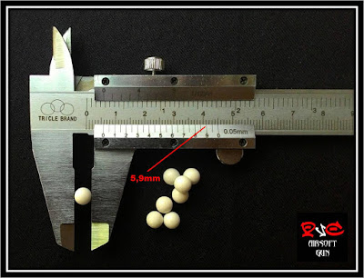 ukuran ball bullet airsoftgun