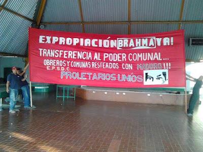 Lara: Orden de desalojo para obreros que resisten cierre fraudulento de Regional - Brahma