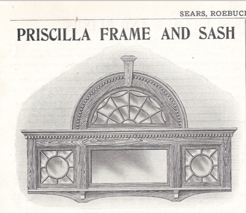 Sears Priscilla frame and sash as offered in a 19-teens catalog