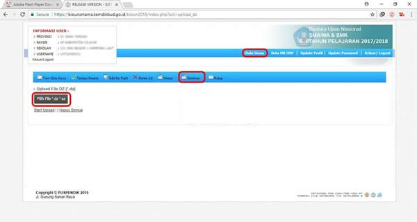 You have a problem with your javascript di Bio UN SMA Cara Mengatasi Eror Javascript Upload File DZ/EZ di Bio UN SMA/MA
