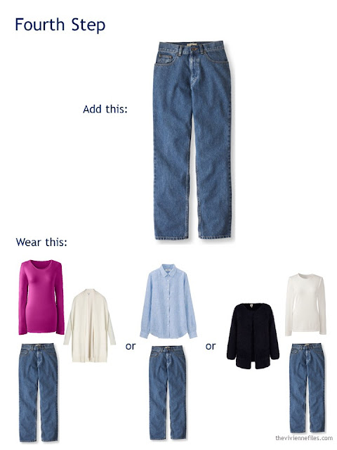 buying traditional jeans to add to a travel capsule wardrobe