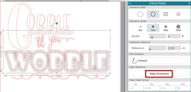 Silhouette Studio - släpp dina strasstenar och finjustera din design