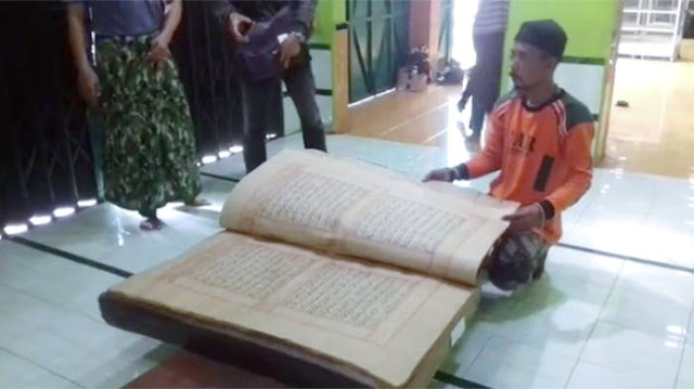Inilah Keistimewaan Al Qur'an Berusia Ratusan Tahun Yang Dimiliki Sebuah Ponpes Di Solo
