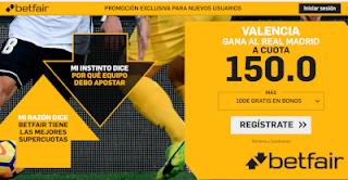 betfair supercuota Valencia gana a Real Madrid 1 diciembre