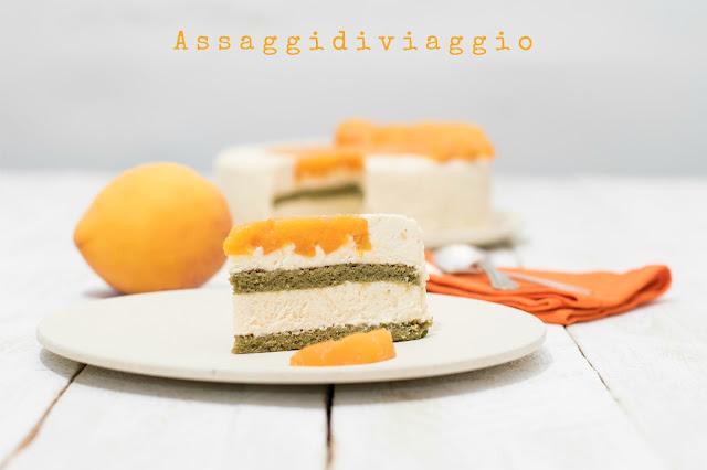 Torta mousse alle pesche e vaniglia del maestro Massari