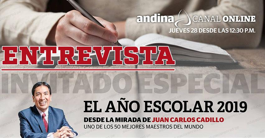 JUAN CARLOS CADILLO: Agencia Andina entrevista a uno de los 50 mejores maestros del mundo