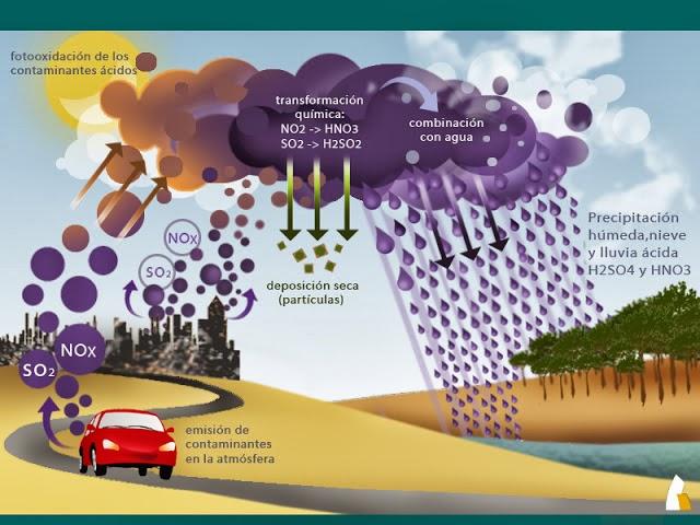 Trabajos de Ciencias Naturales: LLUVIA ACIDA