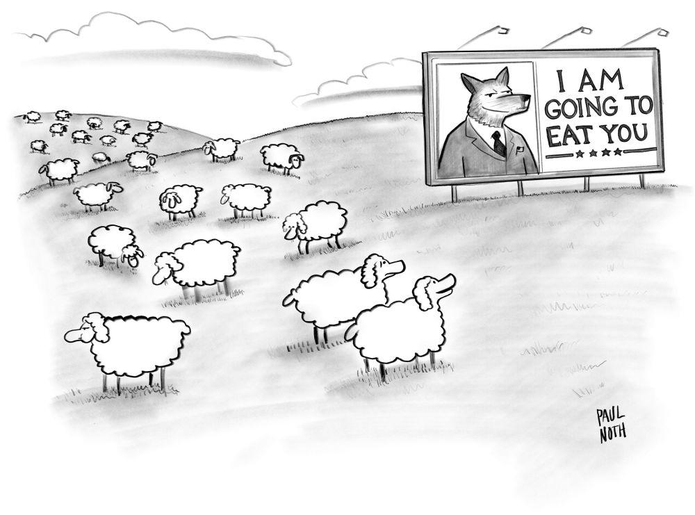 Trump wolf and sheep