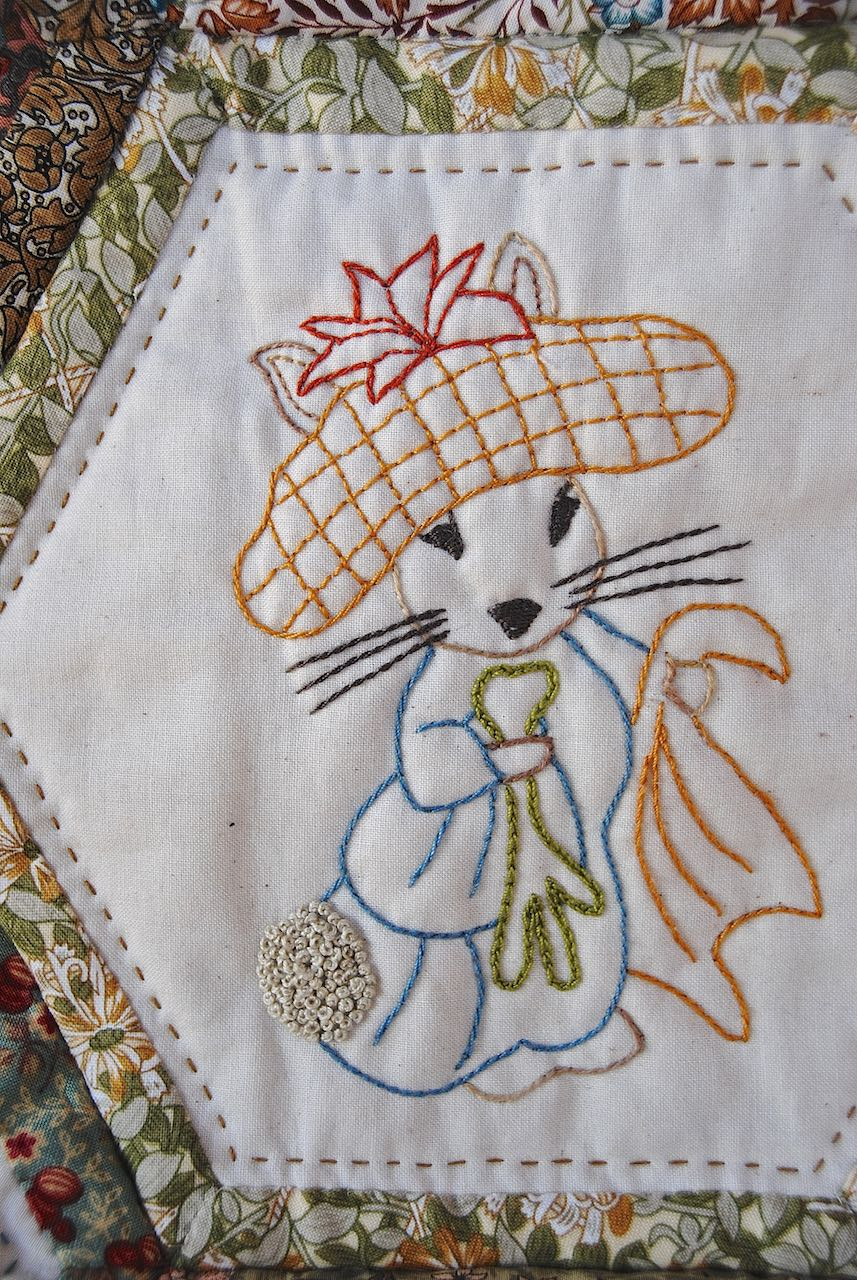 William Morris In Quilting Stitching With Beatrix Potter