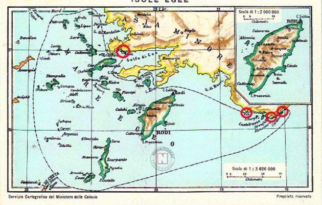 Ιταλικοί Χάρτες – ντοκουμέντα όχι μόνο κατοχυρώνουν απόλυτα την ελληνική κυριαρχία επί των Δωδεκανήσων, όχι μόνο καθορίζουν σαφέστατα την θαλάσσια συνοριακή γραμμή Ελλάδας – Τουρκίας, αλλά και καταδεικνύουν ότι οι Τούρκοι μας χρωστούν από πάνω είκοσι νησιά, νησίδες και βραχονησίδες που βρίσκονται πλάι στις Μικρασιατικές ακτές.