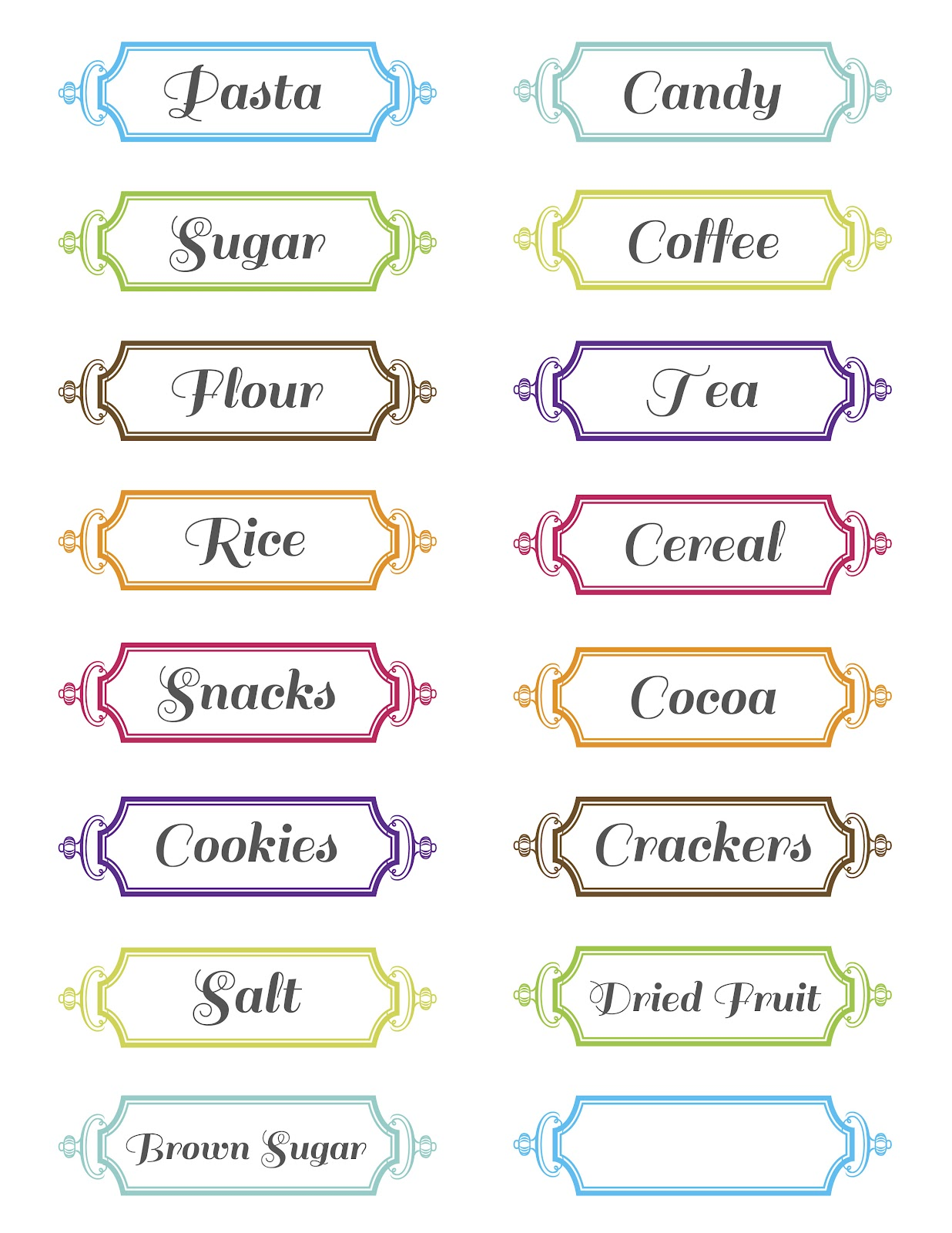 8 up label template - printable pantry labels free templates