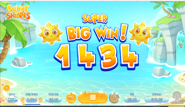 Sunny Shores super Big win - online casino slot game
