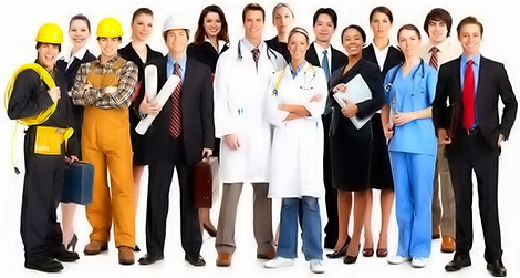 various types of jobs