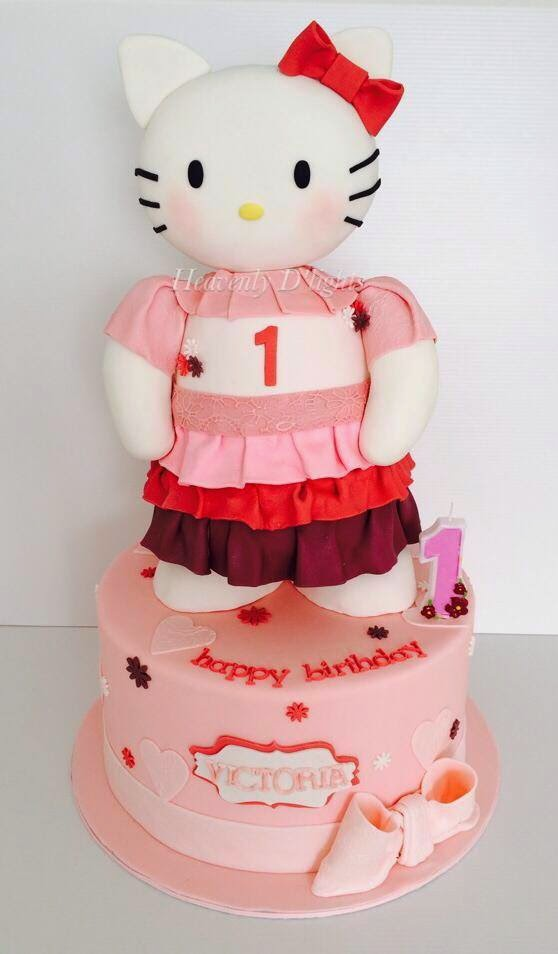Heavenly Dlights Hello Kitty 1st Birthday Cake For Victoria