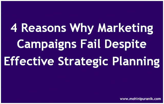 Text Image: Four Reasons Why Marketing Campaigns Fail Despite Effective Strategic Planning