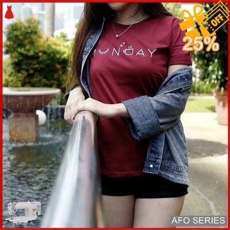 AFO105 Model Fashion Monday Tee Munday Tee Modis Murah BMGShop