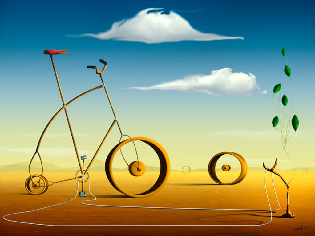 07-A-Bicicleta-Marcel-Caram-Surreal-Paintings-Hidden-in-Symbolism-www-designstack-co