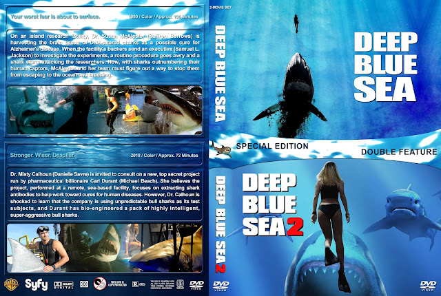 Deep Blue Sea Double Feature DVD Cover