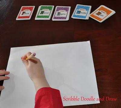 Teach children how to draw using a fun card game