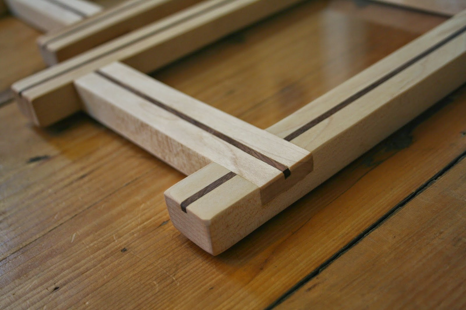 Sugar maple picture frames vaughan woodworks i hand cut the dovetail lap joints for these frames using a japanese dovetail saw and chisel for sale 140 update both are sold jeuxipadfo Image collections